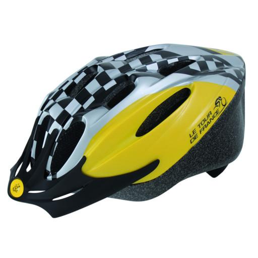Fietshelm Tour-De-France Jeugd Geel/Zwrt