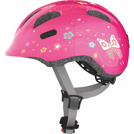 Fietshelm Abus Smiley 2.0 Pink Butterfly