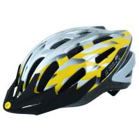Fietshelm Tour-De-France Volw. Zilv/Geel