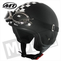 Helm Custom-Flag Zwart/Wit