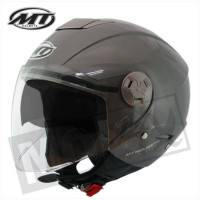 Helm Jet City-Eleven Sv Solid Antraciet