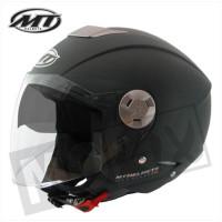 Helm Jet City-Eleven Sv Solid Mat Zwart