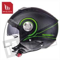 Helm Jet City-Eleven Sv Tron Zwart/Groen