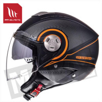 Helm Jet City-Eleven Sv Tron Zwart/Oranje