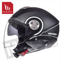 Helm Jet City-Eleven Sv Tron Zwart/Wit