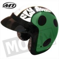 Helm Jet Ladybug Groen