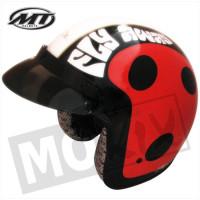 Helm Jet Ladybug Rood