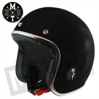 Helm Le Mans Solid Zwart