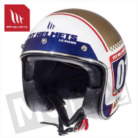 Helm Le Mans Sv Numberplate Wit