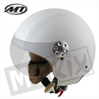 Helm Retro Leer Wit