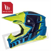 Helm Spec Fluor Blauw/Geel