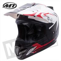 Helm Steel Zwart/Rood