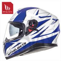 Helm Thunder Iii Sv Effect Wit/Blauw
