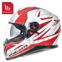 Helm Thunder Iii Sv Effect Wit/Rood