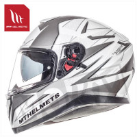 Helm Thunder Iii Sv Effect Wit/Zilver