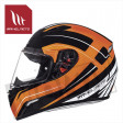 Helm Mugello Maker Zwart/Fluor Oranje